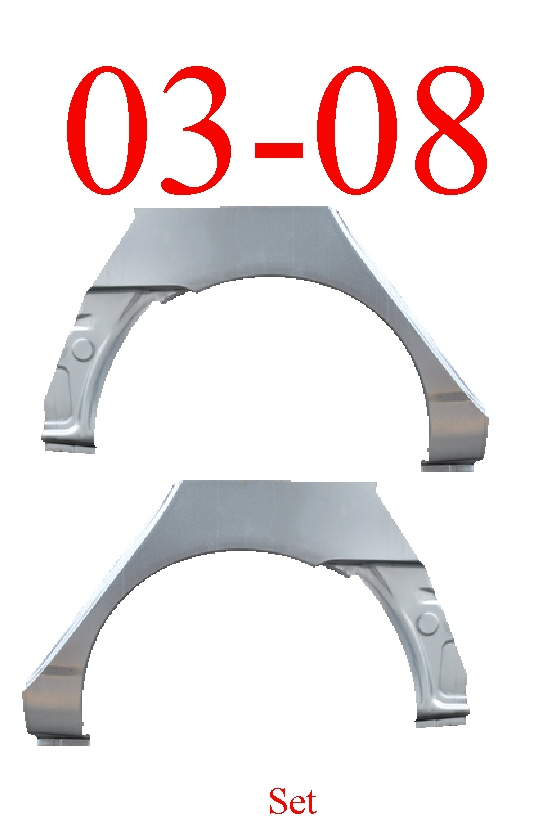 03-08 Toyota Corolla Upper Wheel Arch & Dog Leg Set